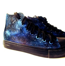 Handpainted Galaxy Sneakers, Custom Galaxy Converse, Personalized Shoes