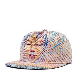 Fluorescent Colorful Lines Baseball Cap Men Hip Hop Hat Holiday Hat 218