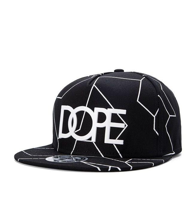 cc1d934fbf6 Fashion Black Crack Dope Baseball Cap Men Hip Hop Hat