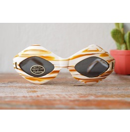 Vintage Sunglasses 1960's Pop Art Victory Optical Caramel Swirl