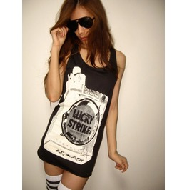 Vintage Cigarette Pack Pop Rock Tank Top M
