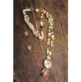 Steampunk Necklace Genuine Art Deco Clasp