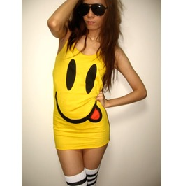 "Big Happy Face ""Have Nice Day"" Pop Rock Tank Top"