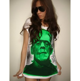 Frankenstein Clasic Monster Film Movie T Shirt L