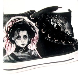 Personalized Handpainted Shoes Edward Scissorhands Shoes, Tim Burton Fanart
