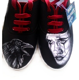 Custom Handpainted Shoes Crow Fanart Shoes