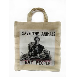 Handpainted Tote Bag Hannibal Lecter Fanart Custom Eco Friendly Bag