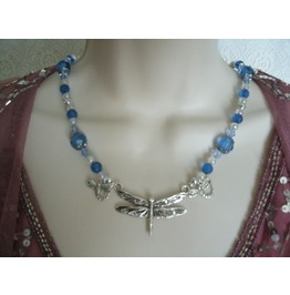 Dragonfly Necklace, Steampunk Victorian