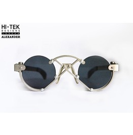 Hi Tek London Unique Alternative Sunglasses Flat Lens Design Frame