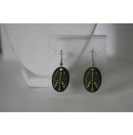 Dangling Resin Ribcage Earrings
