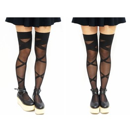 Bondage Thigh High Stockings