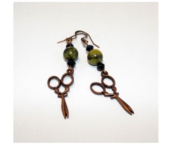 steampunk_earrings_cooper_scissors_yellow_turquoise_black_glass_beads_earrings_3.jpg