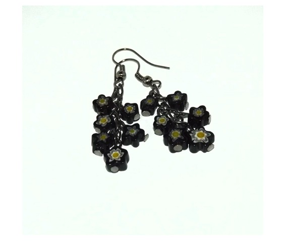 handmade_black_flowers_bouquet_earrings_earrings_2.jpg