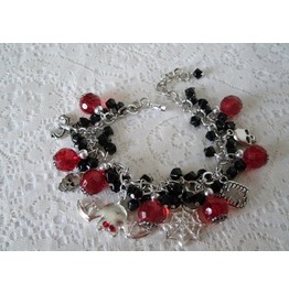 Immortal Love Charm Bracelet, Goth Vampire Fantasy