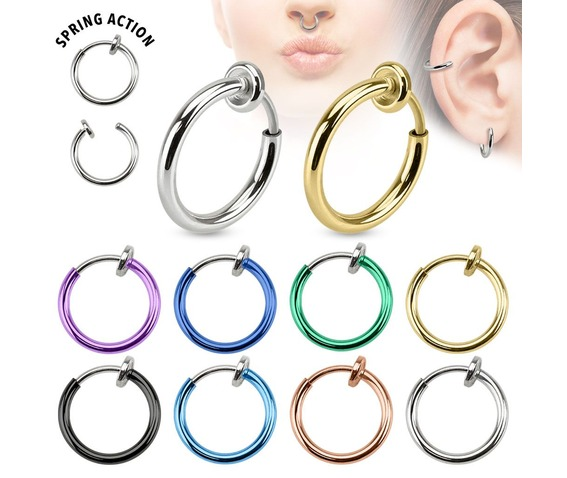 spring_action_titanium_ip_septum_nose_ear_hoop_pair_silver_fake_plugs_and_piercing_jewelry_3.jpg