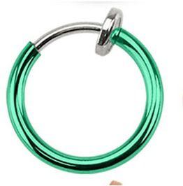 Spring Action Titanium Ip Septum Nose, Ear Hoop Pair Green