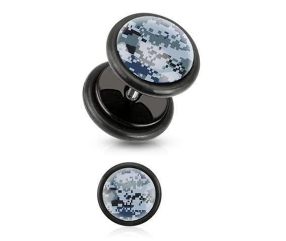 blue_pixelated_camouflage_print_inlayed_black_acrylic_plug_pair_fake_plugs_and_piercing_jewelry_2.jpg
