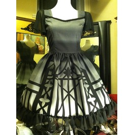 Ombré Gate Dress Size S/M Gothic Steampunk Couture