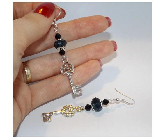 handmade_gothic_silver_key_earrings_prussian_blue_glass_beads_earrings_3.jpg