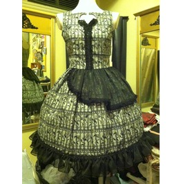 Garden Gate Cotton Chiffon Dress Size M Steampunk Gothic Lolita Coutu