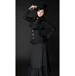 Black Floor Length High Waisted Long Victorian Skirt $9 To Ship Worldwide