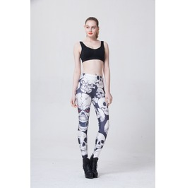 Womens skull printed cool leggings leggings 3