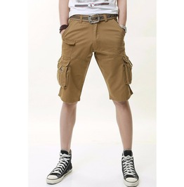 Mens Black/Gray/Brown Multi Pocket Summer Shorts
