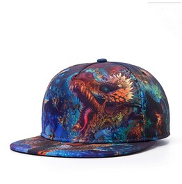 Fashion Blue Dragon Baseball Cap Men Hip Hop Hat Dancing Cap 22