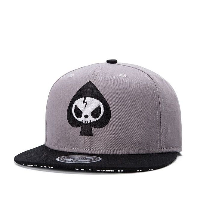 Fashion Grey Skull Summer Men Baseball Cap Men Hip Hop  ec0e9a494d28