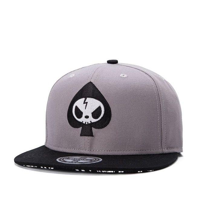 3a863a2438c Fashion Grey Skull Summer Men Baseball Cap Men Hip Hop