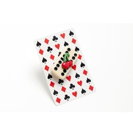 Kitsch Domino Cherry Brooch.