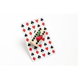 Kitsch Domino Cherry Brooch.