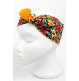 Orange Yellow Hibiscus Flower Head Scarf