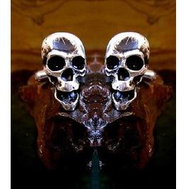 Skull Cufflinks Sterling Silver