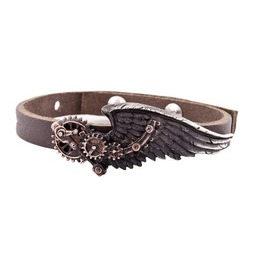 Black Baron Technician's Wings Steampunk Bracelet Alchemy Gothic