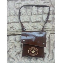 Shoulder Messenger Hobo Bag Brown Leatherette Cross Body Cover Story Star
