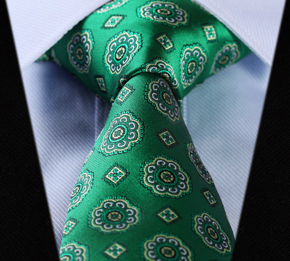 green_rose_floral_necktie_ties_and_neckwear_2.png