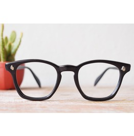 Vintage American Optical Co 1950's Black Arnel Style G Men