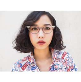 Vintage Eyeglasses Cat Eye Grey Smoke Color Frames.