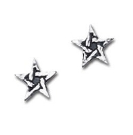 Pentagram Studs Gothic Earrings Alchemy Gothic