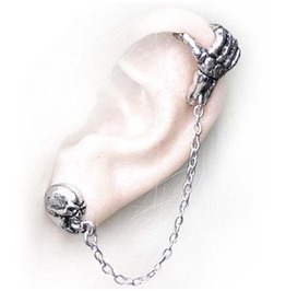Mortal Remains Gothic Ear Cuff Stud Alchemy Gothic