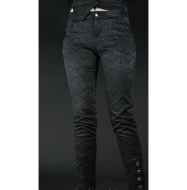 Brocade 5 Button Skinny Pants With Ankle Snaps $9 To Ship Worldwide