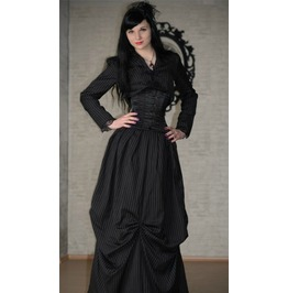 Pinstriped Victorian Jacket And Big Skirt (2 Pieces) $9 Worldwide Shipping