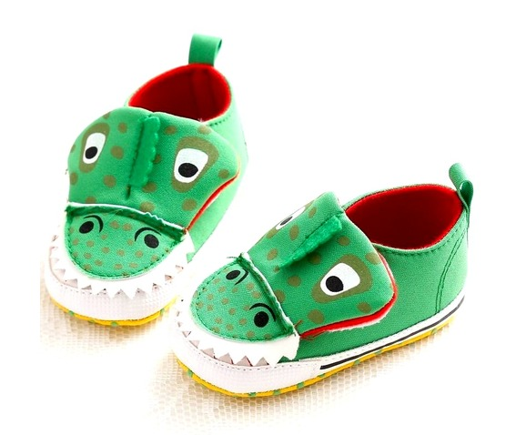 snappy_green_crocodile_slip_trainers_velco_12_18_months_baby_and_kids_2.JPG