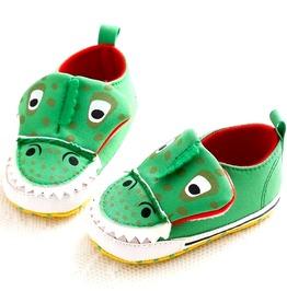 Snappy Green Crocodile Slip Trainer Design Velco 12 18 Months