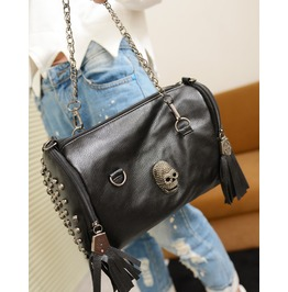 Women's Skull Tassels Pu Leather Shoulder Bag