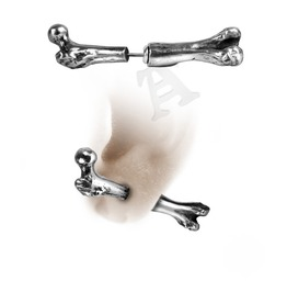 Femur Bone Punk Stud Alchemy Gothic (Single)