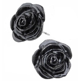 Black Rose Studs Gothic Earrings Alchemy Gothic