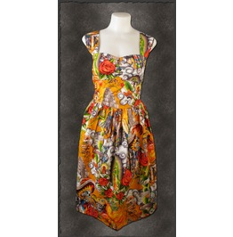 Fiesta Hasta La Muerte Mexican Rockabilly Sexy Dress