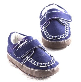 Blue Baby Canvas Shoes Slip Design Velco 6 12 Months
